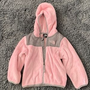 Pink / grey The north Face fleece jacket